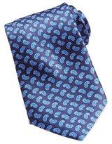 Stefano Ricci Paisley-Print Woven Silk Tie, Blue