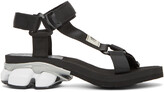 Thumbnail for your product : Miharayasuhiro Black Sneaker Heel Belted Sandals