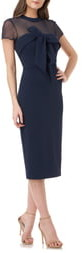 JS Collections Bow Detail Midi Dress