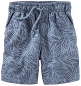 Osh Kosh Palm Print Pull-On Canvas Shorts
