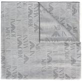 Emporio Armani logo pattern scarf - men - Modal/Viscose - One Size