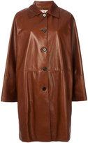 Marni slouched coat - women - Lamb Skin/Viscose - 40
