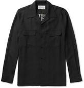 Wacko Maria - Slim-fit Camp-collar Embroidered Piqué Shirt