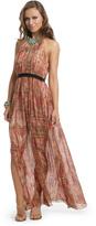 Thread Social Lurex Drip Halter Bow Gown