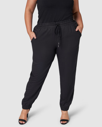 Indigo Tonic - Women's Black Pants - Jean Jogger Pant - Size One Size, 12 at The Iconic