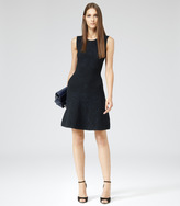Franky TEXTURED KNIT FIT AND FLARE DRESS