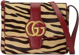 Gucci Medium Arli Tiger Print Genuine Calf Hair & Leather Shoulder Bag
