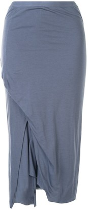 Rick Owens Lilies Side Slit Fitted Skirt