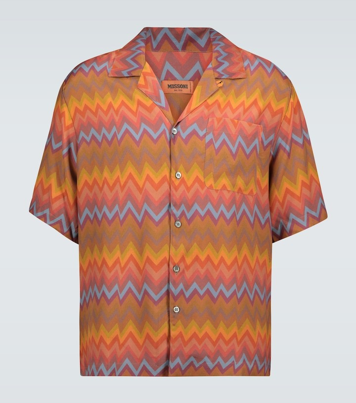 Missoni Zig-zag printed short-sleeved shirt