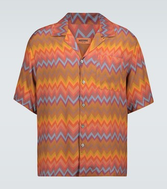 Missoni Zig-zag printed short-sleeved shirt