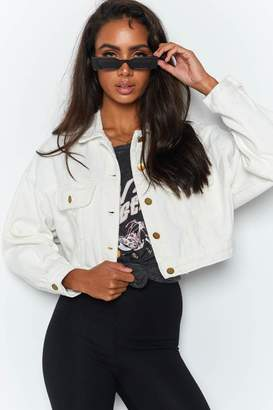 Beginning Boutique Sweet But Psycho Jacket White
