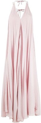 Roland Mouret Two-Tone Pleated Dress