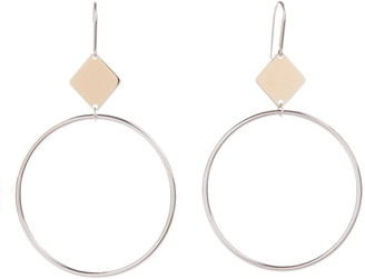 Isabel Marant Geometric Frontal Hoop Earrings