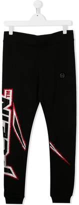 Philipp Plein Junior TEEN logo embellished track pants