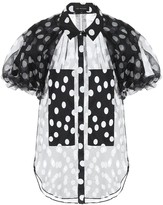 Lee Mathews Polka-dot silk blouse