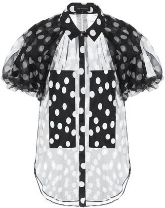 Lee Mathews Cherry polka-dot silk blouse