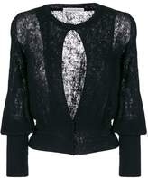 Stefano Mortari lace detail cardigan