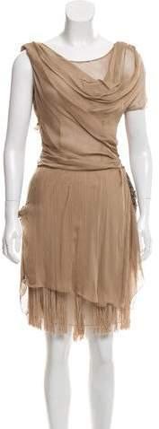 Alberta Ferretti Embellished Silk Dress