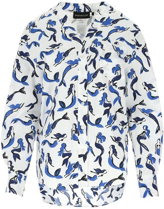 Max Mara Mermaid Print Shirt