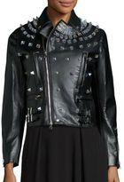 Noir Kei Ninomiya Faux Leather Biker Jacket