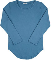 Mimobee Thermal-Knit Cotton T-Shirt-BLUE
