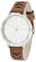 Steve Madden Cutout Leather Strap Watch