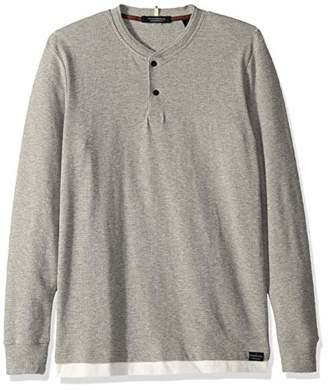 Scotch & Soda Men's Double Layer Grandad T-Shirt