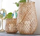 Pottery Barn Kelly Woven Palm Lantern