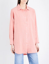 MiH Jeans Oversized linen and cotton-blend shirt