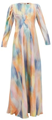 Sies Marjan Virginia Silk-twill Gown - Womens - Multi