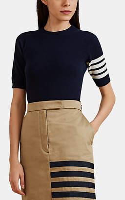 Thom Browne Women's Block-Striped Fine-Gauge Knit Cashmere Sweater - Navy