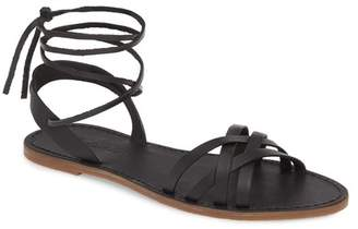 Madewell The Boardwalk Woven Lace Up Sandal