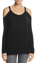 Chaser Cold-Shoulder Fleece Sweatshirt