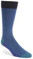 Ted Baker Stripe Organic Cotton Blend Socks