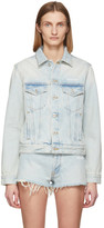 Off-White Off White Blue Denim Bleach Jacket