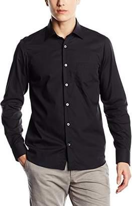 Signum Men's 1/1 Basic Casual Shirt, (Optical White), Large