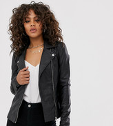 Y.A.S Tall leather biker jacket