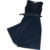 Christian Dior Black wool sleeveless dress