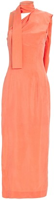 MATÉRIEL One-Shoulder Scarf Gown