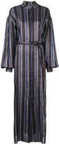 Osman belted stripe dress - women - Cotton/Linen/Flax - M