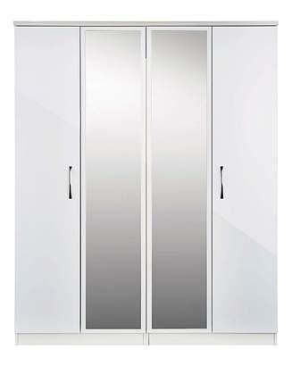 Sloane Marisota 4 Door Wardrobe with Mirror