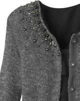 Coldwater Creek Beaded jewel neck cardigan