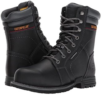 Caterpillar Echo Waterproof Steel Toe (Black) Women's Work Boots