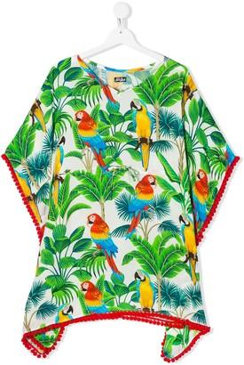 Kate jungle print poncho dress