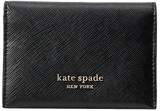 Kate Spade Spencer Bifold Card Case (Black) Handbags