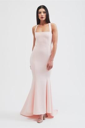 Belles Of London The Ava fishtail maxi dress