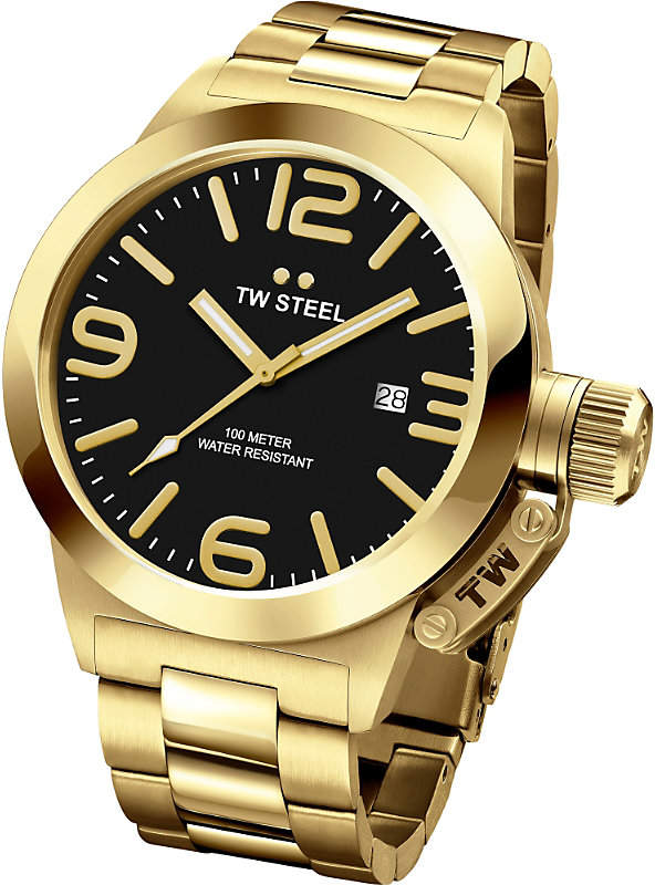 TW Steel CB91 Canteen yellow gold PVD-plated stainless steel watch