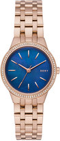 DKNY Women's Park Slope Rose Gold-Tone Stainless Steel Bracelet Watch 28mm NY2573