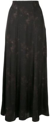 Anine Bing Caroline silk abstract print skirt