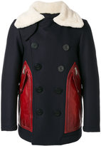 DSQUARED2 patch pocket coat - men - Calf Leather/Polyamide/Polyester/Virgin Wool - 50